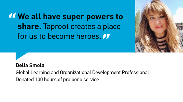The Avengers have nothing on Delia. Click here to read how through Taproot projects, Delia has found a way to share her superpowers with her community.