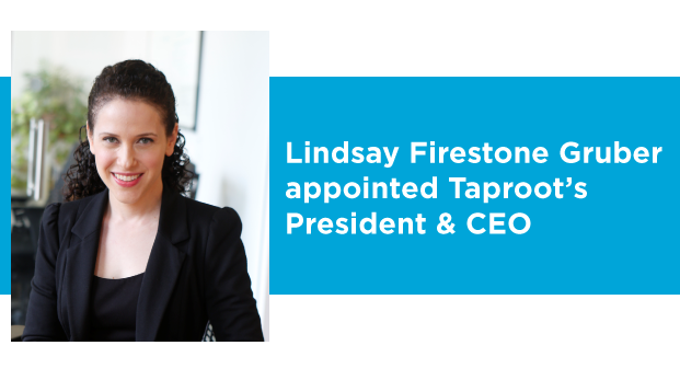 The Taproot Foundation Board of Directors announces the appointment of Lindsay Firestone Gruber as the organization's new President & CEO