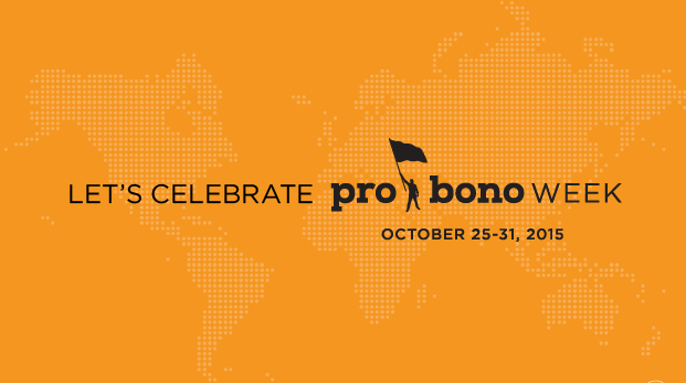 Pro Bono Week starts October 25th. How will you celebrate? Click here for some id