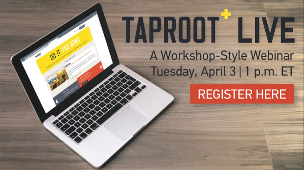 Tackle your nonprofit's toughest challenges with the help of skilled volunteers. We'll show you how get started in this workshop-style webinar - click here to register.