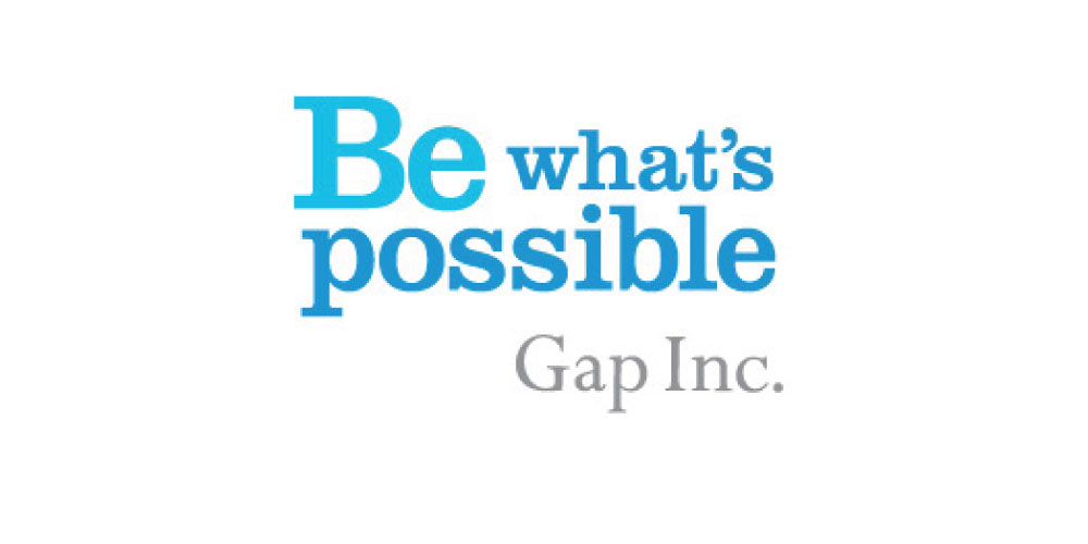 Gap's tagline line: Be what's possible