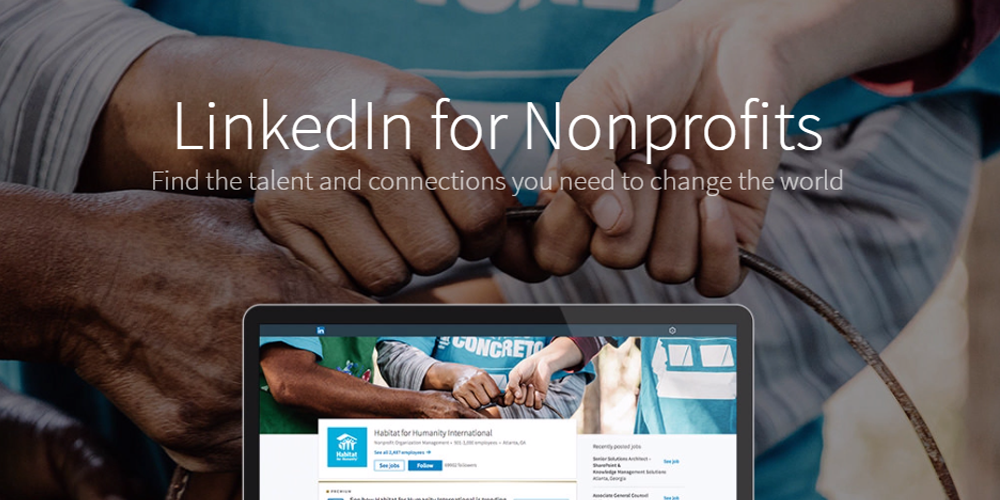 The homepage of LinkedIn for Nonprofits