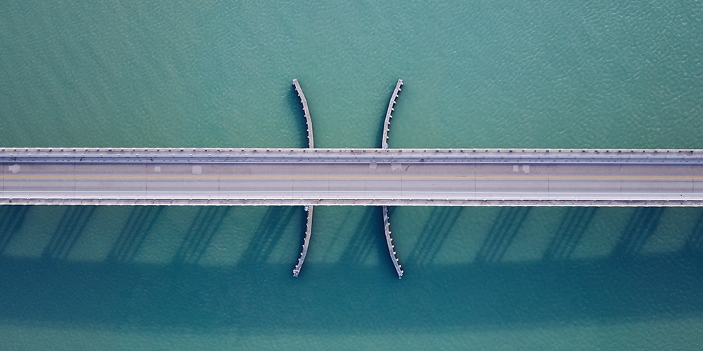 Image of a bridge from above