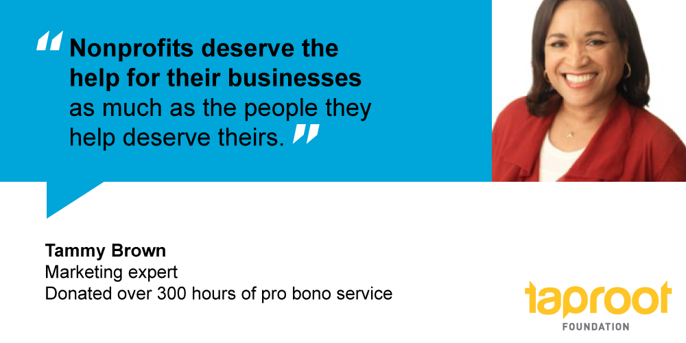 Tammy Brown donated over 300 hours of pro bono service.