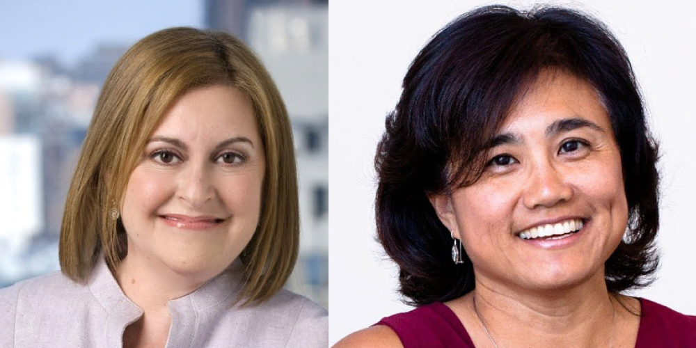 New board members: Patricia Langer and Rebecca Wang