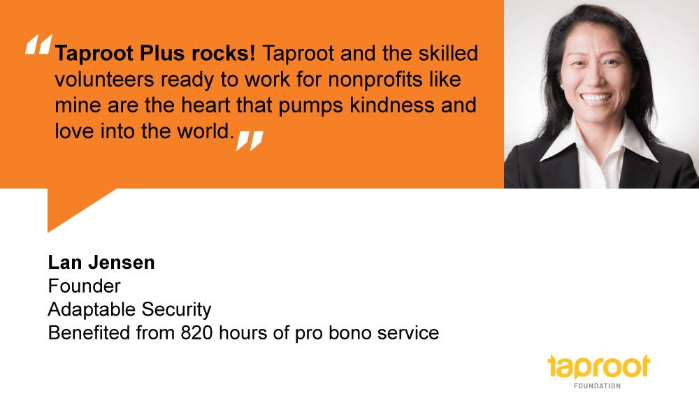 People of Pro Bono: Lan Jensen, Adaptable Security