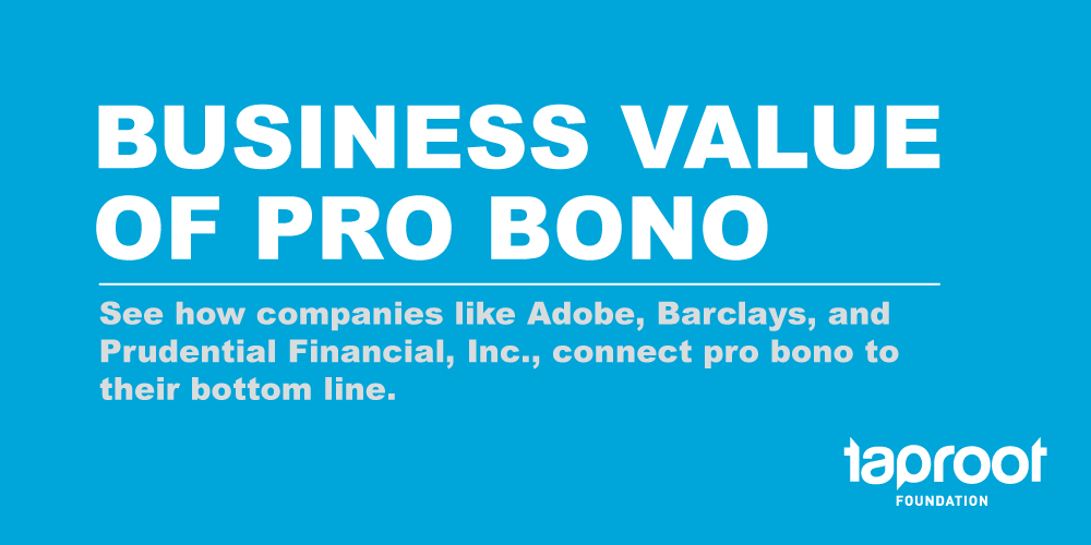 Business Value of Pro Bono