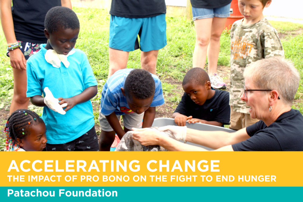 Acclerating Change: The Impact of Pro Bono on the Fight To End Hunger. Patachou Foundation