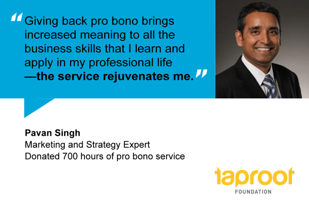 People of Pro Bono: Pavan Singh, Marketing and Strategy expert