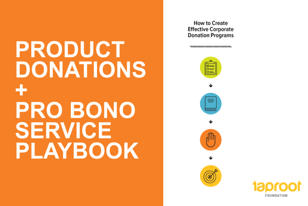 Product Donations + Pro Bono Service Playbook: how to create effective corporate donation programs