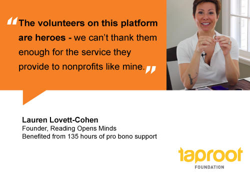 People of Pro Bono: Lauren Lovett-Cohen, Reading Opens Minds