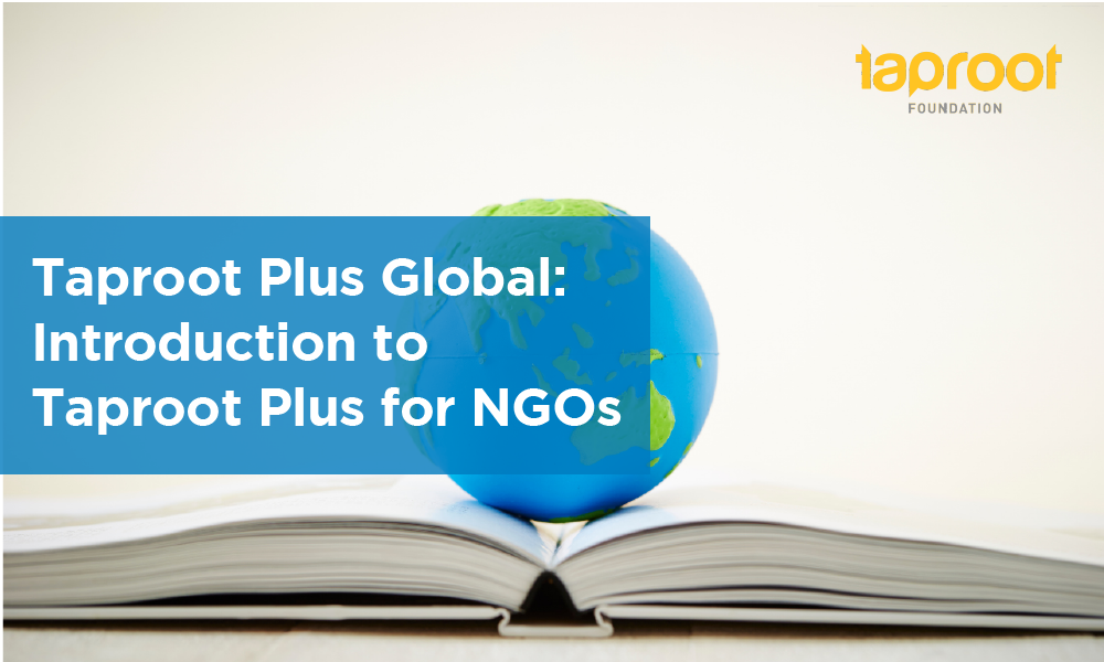 Intro to Taproot Plus for NGOs
