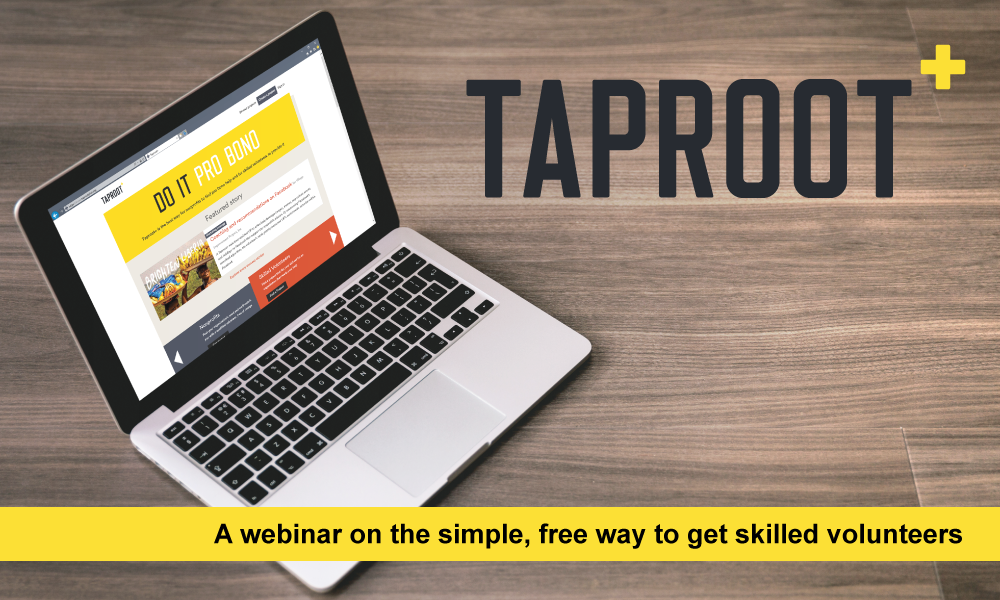 Taproot+: the simple, free way to get skilled volunteers