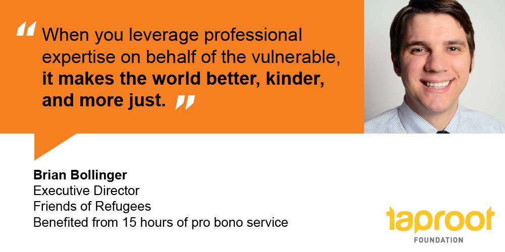 Through pro bono support, Brian's nonprofit can do more to protect the vulnerable.