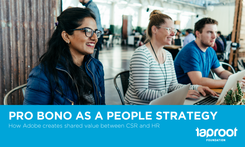 Adobe Pro Bono as a People Strategy