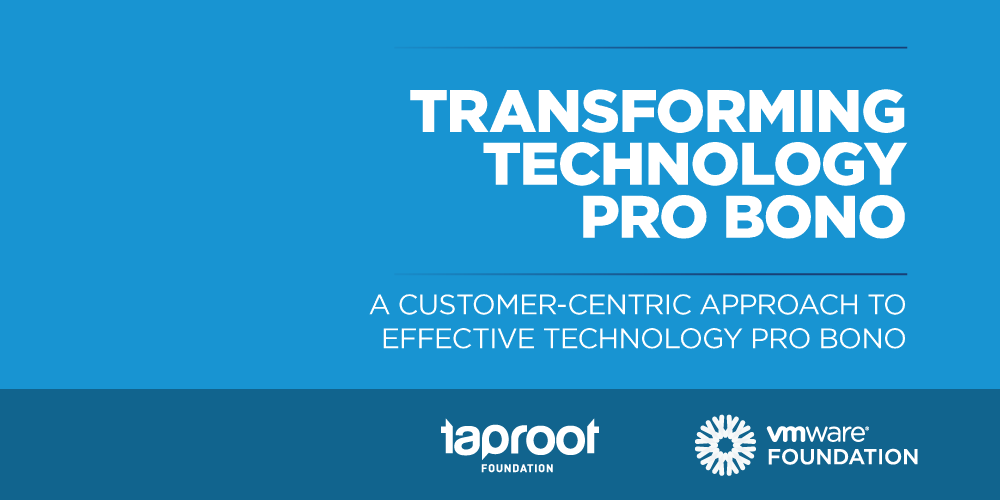 VMware Transforming Technology Pro Bono
