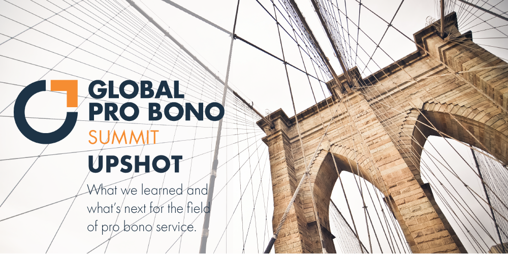 2019 Global Pro Bono Summit Upshot, image of Brooklyn Bridge