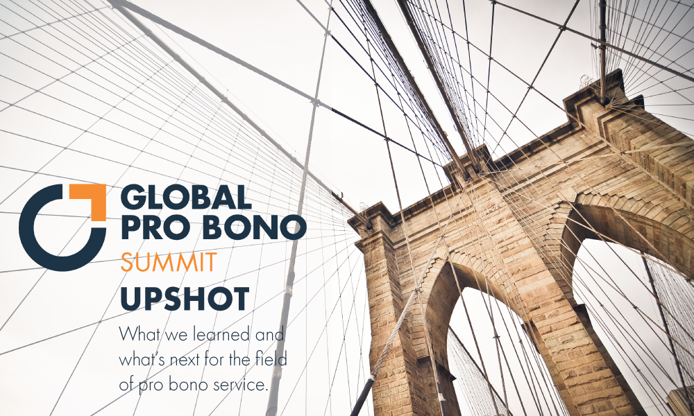 Global Pro Bono Summit 2019 Upshot, image of Brooklyn Bridge
