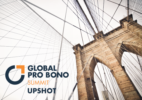 Global Pro Bono Summit Upshot, image of brooklyn bridge