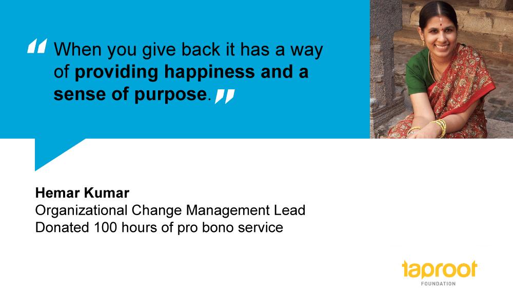 How Hema uses her professional skills to help nonprofits