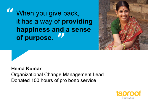 How Hema uses her professional skills to help nonprofits