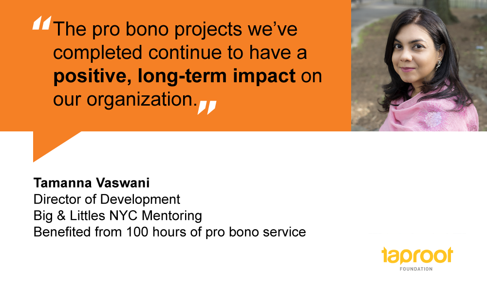 People of Pro Bono: Tamanna Vaswani