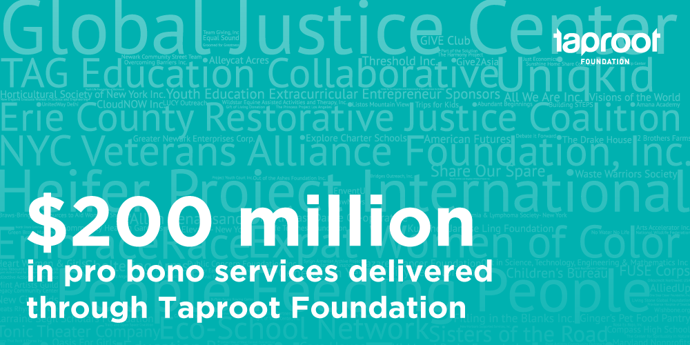 list of nonprofit orgs in social sector with $200 million text