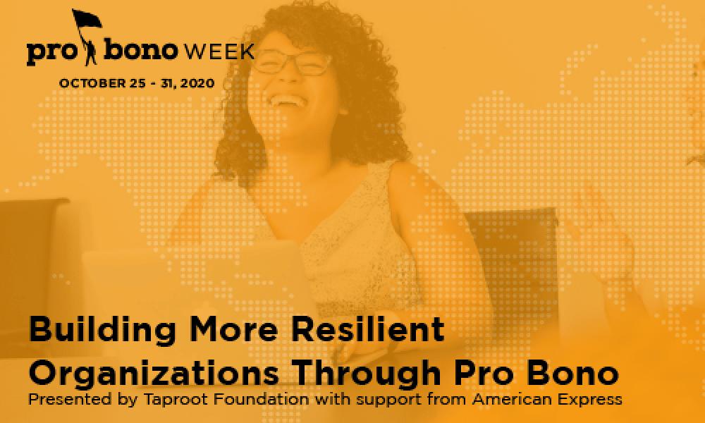 Building More Resilient Organizations Through Pro Bono