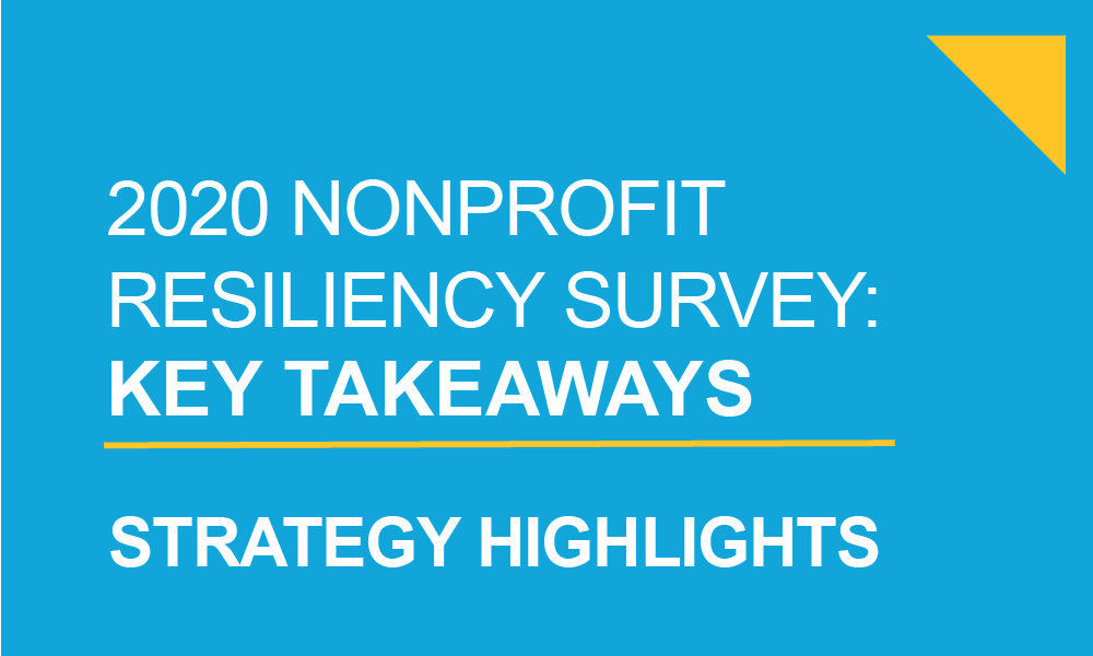 Taproot 2020 Nonprofit Resiliency Survey, Strategy Highlight