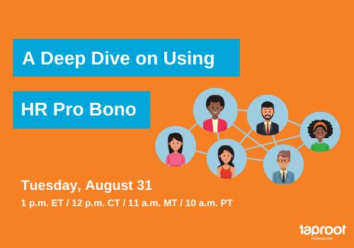 A Deep Dive on Using HR Pro Bono