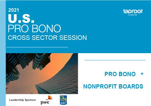 Pro Bono + Nonprofit Board