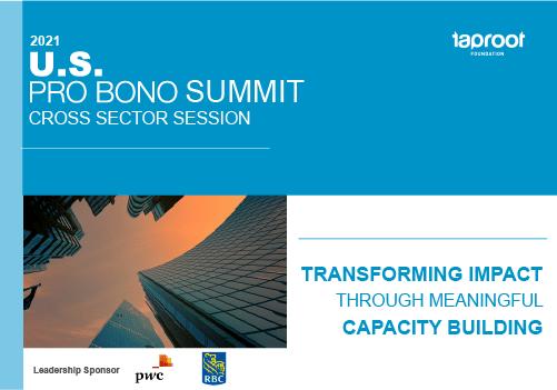 US Pro Bono Summit